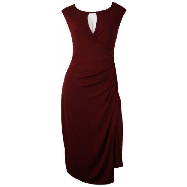 Wilayn Burgandy Day Wrap Dress