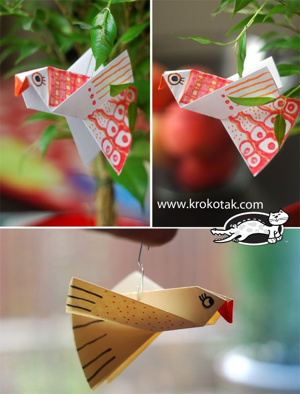 Paper birds for colouring - easy to make - South American bird ornament?
