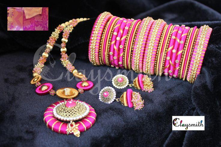 silk thread jewellery - Google Search