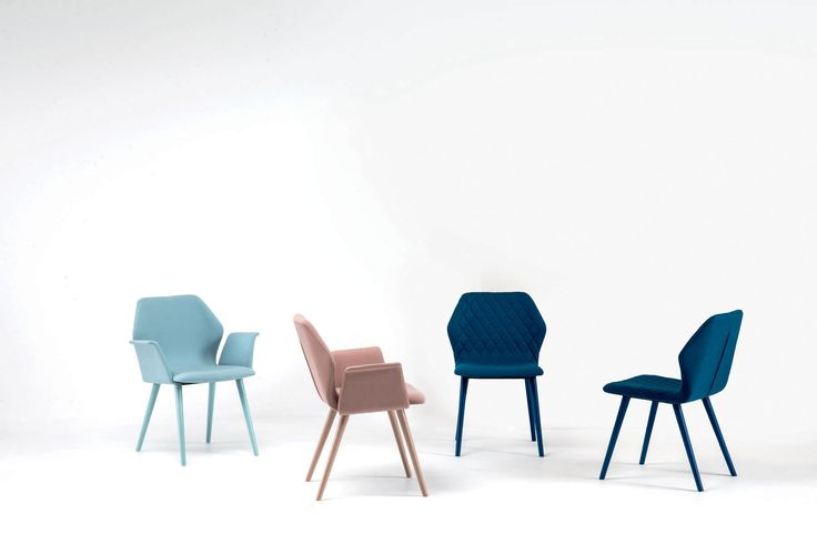Chaise contemporaine / avec accoudoirs / en tissu / en cuir - AVA by Michael Schmidt - Bross Italia