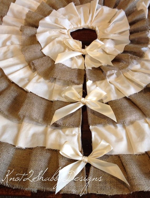 Hey, I found this really awesome Etsy listing at http://www.etsy.com/listing/125445125/ivory-and-burlap-tree-skirt