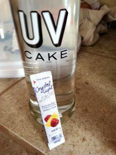 Testing Trendy....1, 2, 3: UV cake vodka mixes