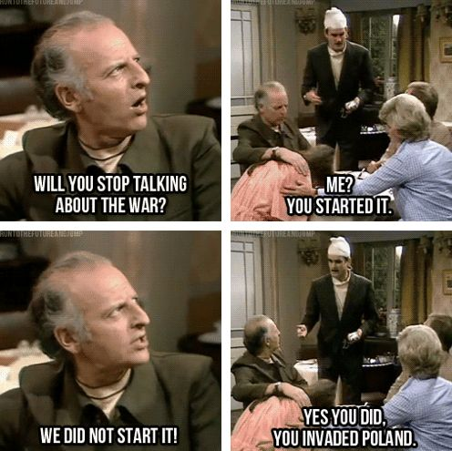 I adore Fawlty Towers. British comedy at its best. And The Germans is the best episode ever!