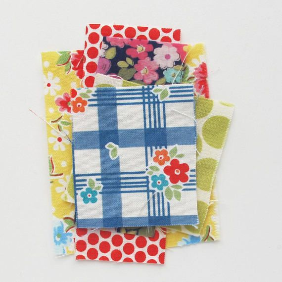 Tiny Scraps 1 Ounce Very small quilting cotton fabric scrap