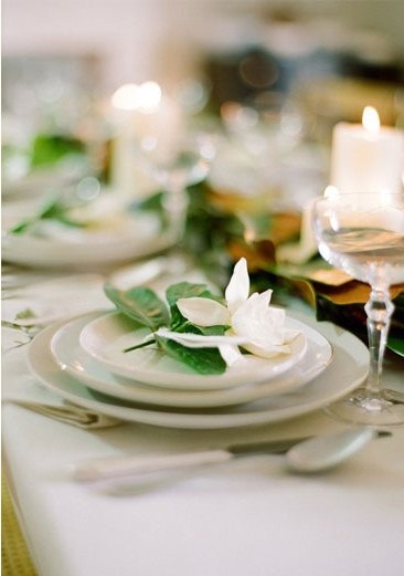 {Gardenia placesettings}