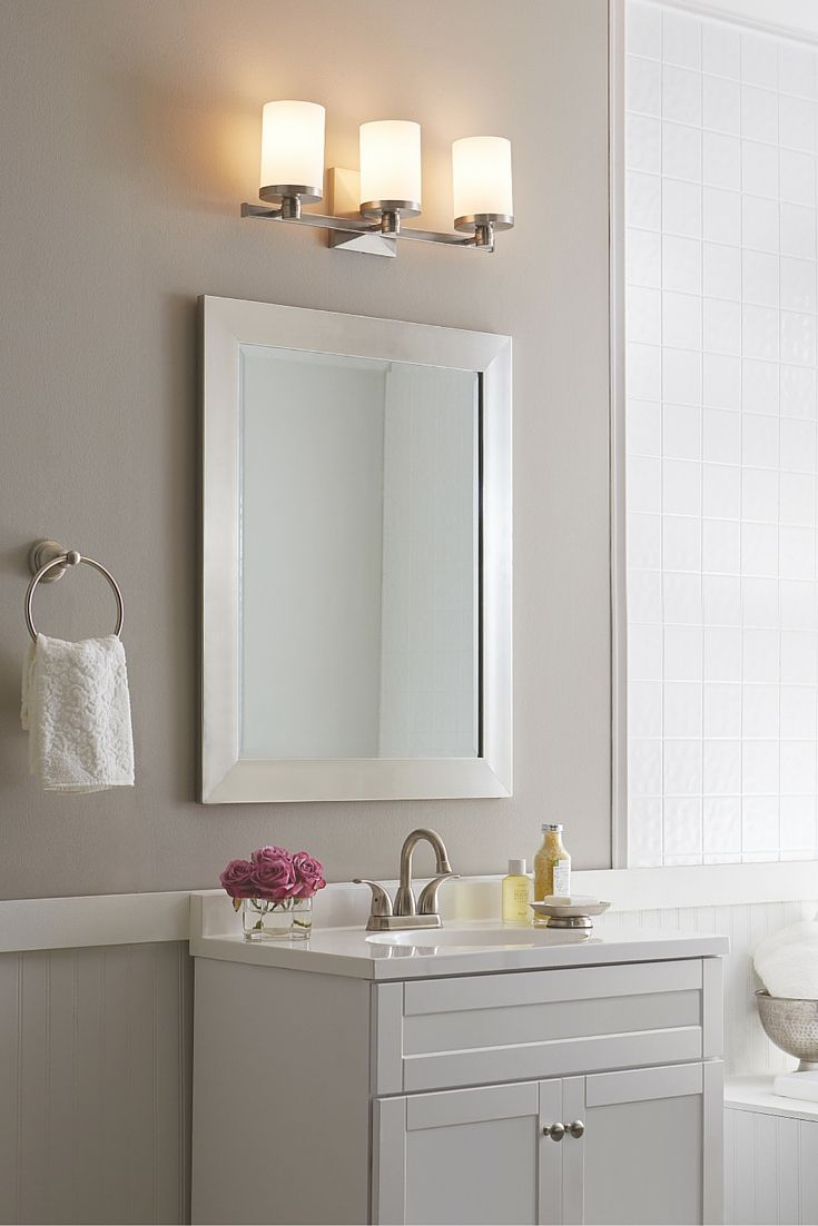 An Updated Take On A Traditional Profile, The Transitional Randolf Bath  Lighting Collection By Feiss
