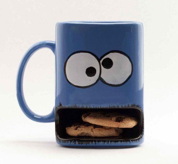 Cookie monster type dunk mug