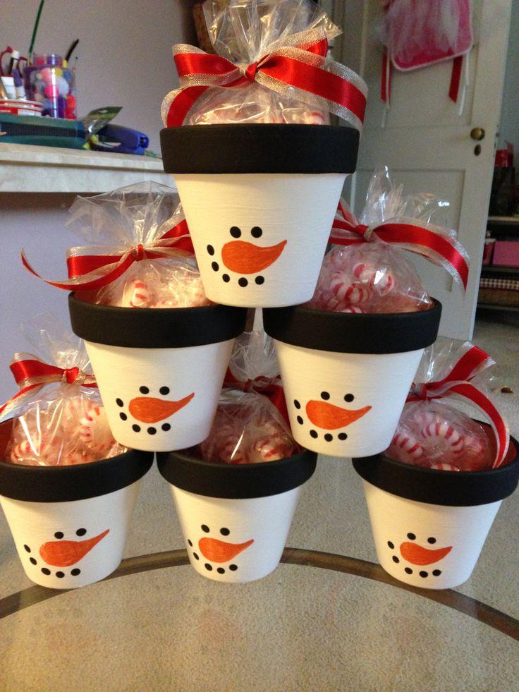Peppermint Snowman Pots Great Teachers Gifts