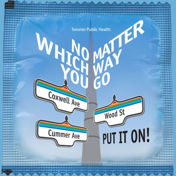 This is what the Toronto condom looks like