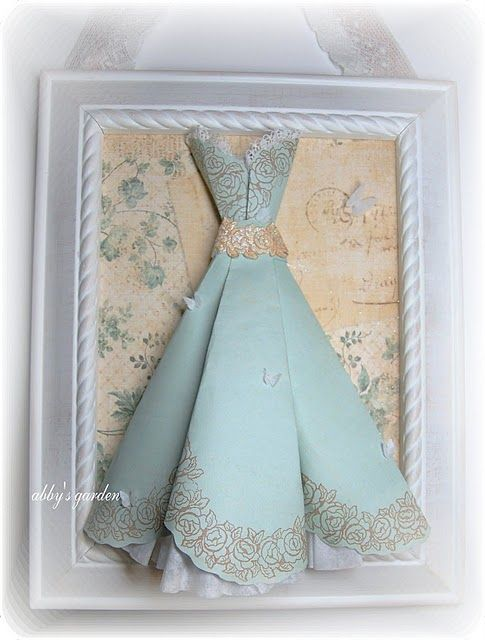 .how cute could also make these from vintage handkerchiefs and display in frame!