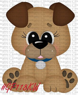 S- SL- PUPPY DOG WOOF ~ Scrapbook Embellishment GNB714