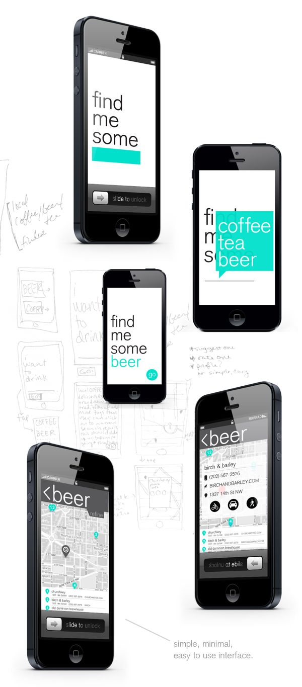 Local Brew app | Designer: Maggie Winters #ui #app