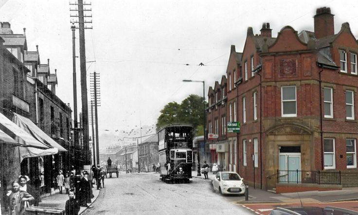 Tram Terminus and Tram 107, Chesterfield Road at bottom of Chantrey Road. Original Image from Picture Sheffield - dated somewhere between 1900 and 1919.
