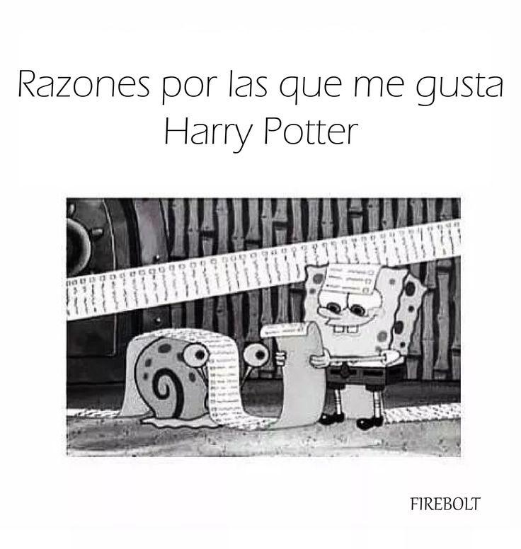 1,000 razones para amar a Harry Potter ft Bob Esponja.