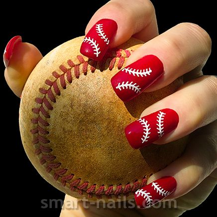 The 25 best baseball nail designs ideas on pinterest softball new design from smart nails the baseball is a stencil inspired by the prinsesfo Gallery