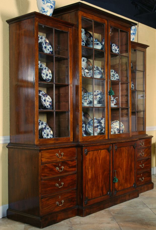 English mahogany Breakfront of stately proportions  Presented by Decorative  Arts   Fine Antiques DAFA in Fort Lauderdale. 124 best Antique Furniture images on Pinterest   Antique furniture