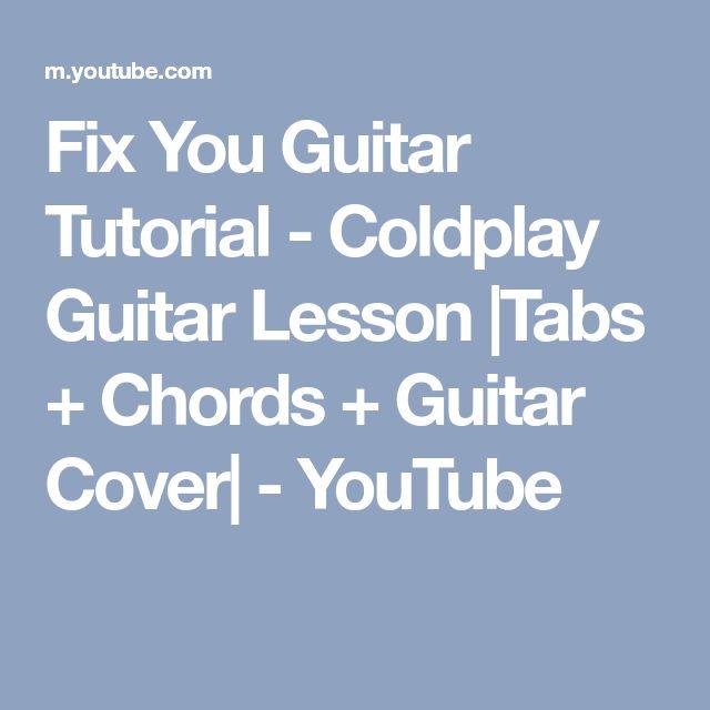 Coldplay: Lyrics: Fix You