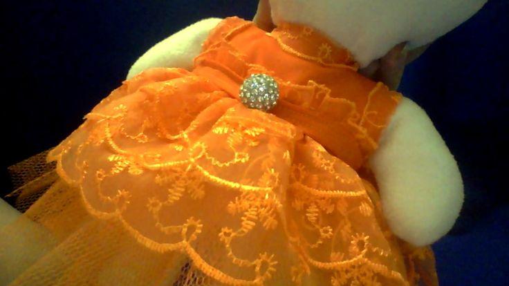 Платье к женскому празднику для мишки. Ручная работа.