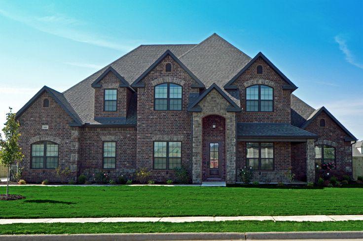 Front Elevation Brick : Brick and stone exterior elevation portfolio exteriors