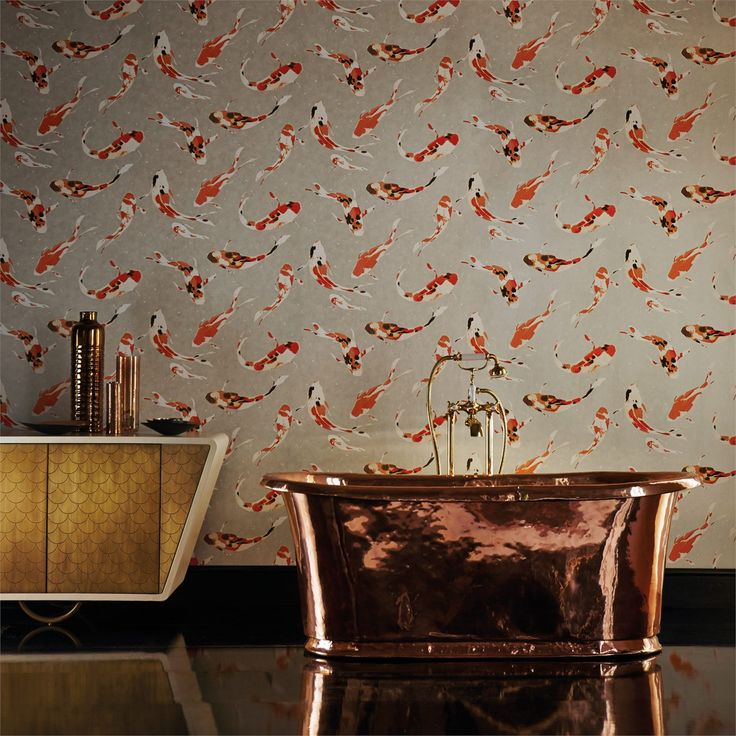 1000 images about harlequin momentum wallcoverings 3 on for Koi wallpaper for walls