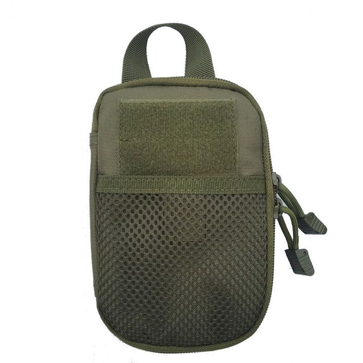 A unique pouch bag to carry your mini essentials to fit your travelling needs!  FREE Shipping Colour: Army green, Black, Khaki MATERIAL: Durable, lightweight nylon with good finish, durable and reinforced seams, zipper for opening and closing runs around 3/4th of the perimeter  DESIGN: Compact, can be attached to your belt, larger bag or suitcase  SIZE: Small and perfect but has ample room for smaller items, doesn't take up too much space