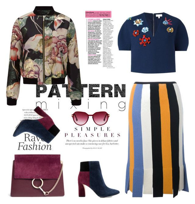 """""""Pattern Mixing Style"""" by ellie366 ❤ liked on Polyvore featuring Salvatore Ferragamo, Miss Selfridge, Delpozo, BCBGMAXAZRIA, Chloé, Boots, HowToWear, fallfashion, fallstyle and paternmixing"""