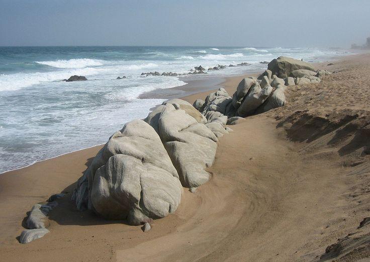 Beautiful Beach with Large Rocks, Umdloti, Durban, Dolphin Coast, KwaZulu-Natal, South Africa | by Bencito the Traveller