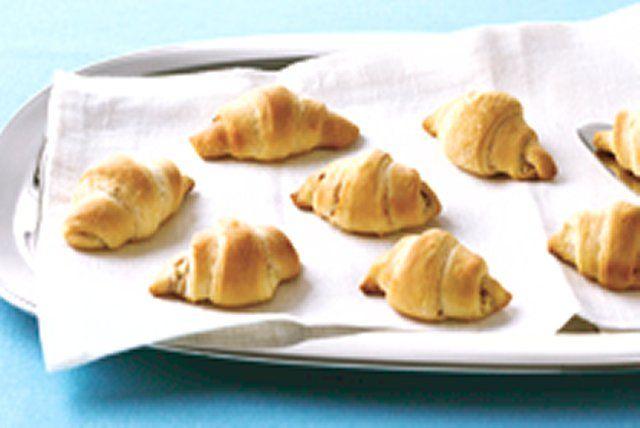 Croissants au fromage à la crème et au bacon