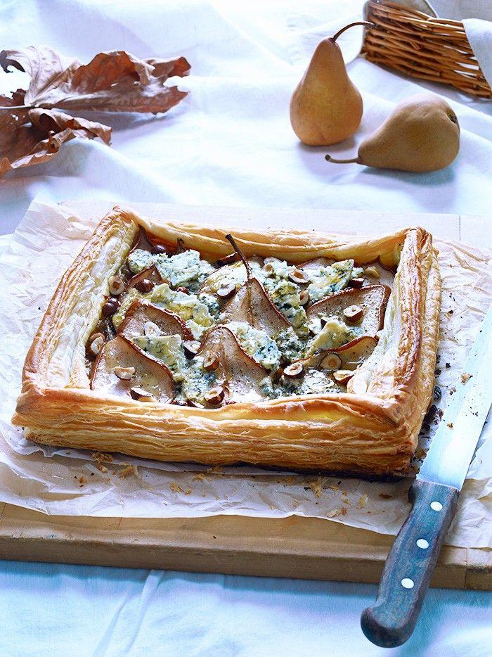 Blue Cheese, Pear and Hazelnut Tart with Balsamic Glaze | Vegetarian | MiNDFOOD