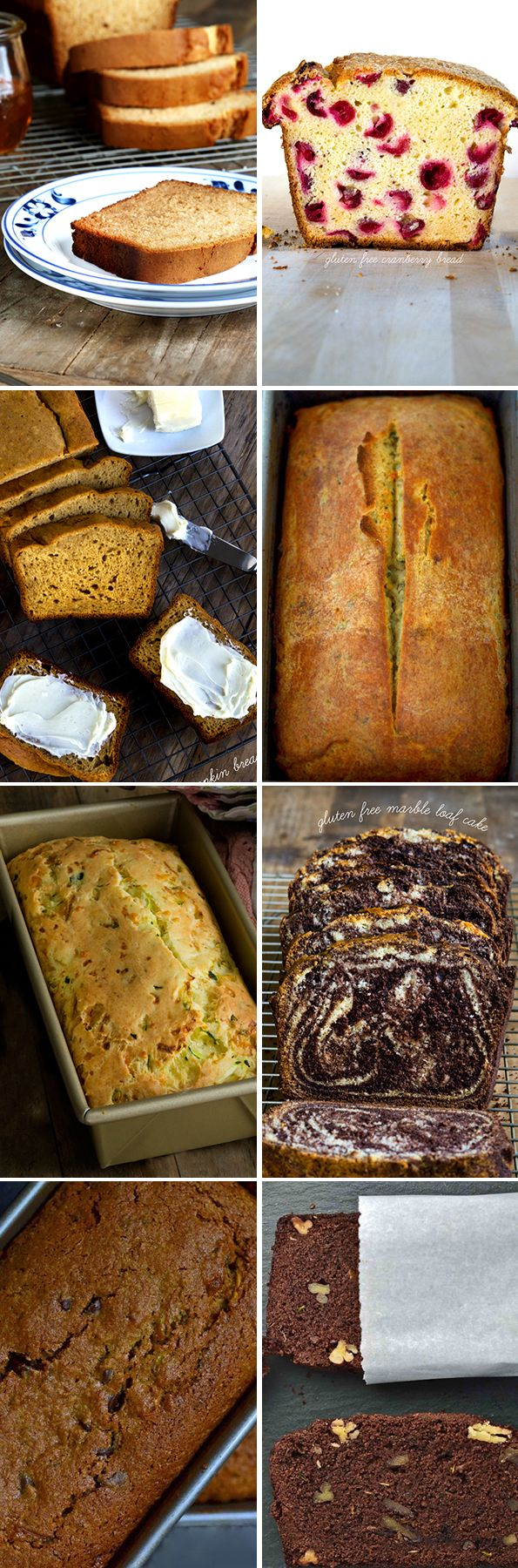 Get these 8 tested recipes for gluten free quick breads - both savory and sweet. Bake your heart out!