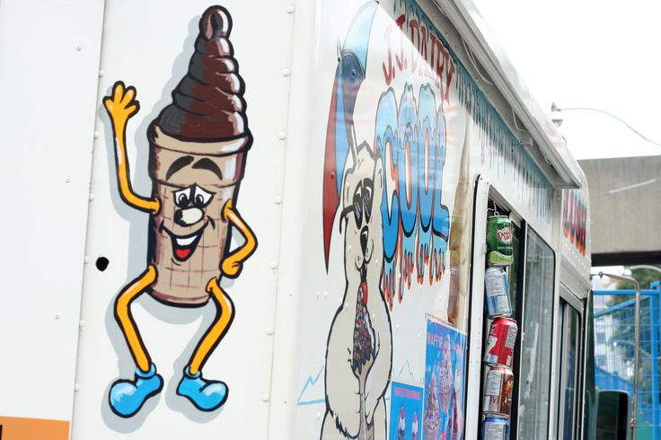 You can now be afraid of the ice cream cone too.   #icecreamtruck #art