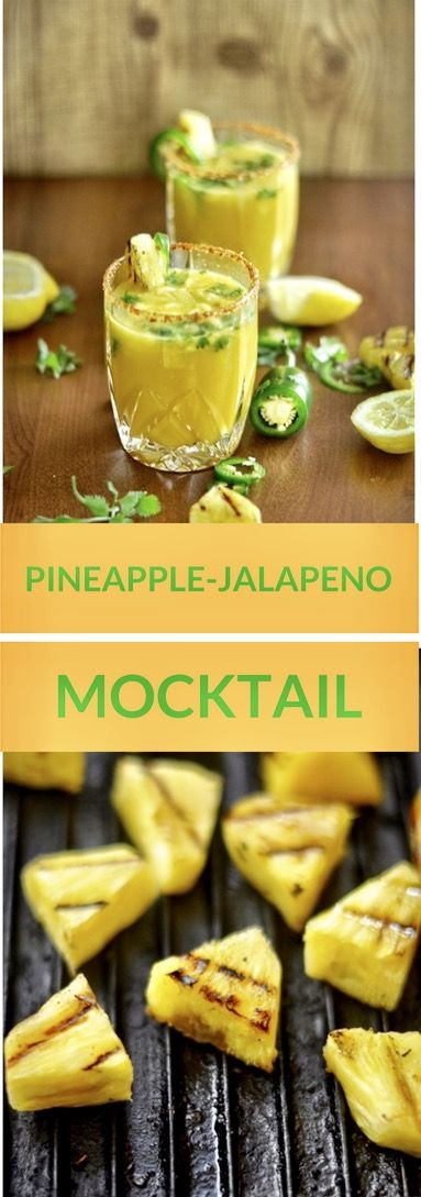 Pineapple Jalapeno Mocktail. Tantalise your taste buds with this grilled pineapple jalapeno cocktails. I can guarantee that, your guests won't even miss the absence of alcohol.   Your summer's go-to drink.
