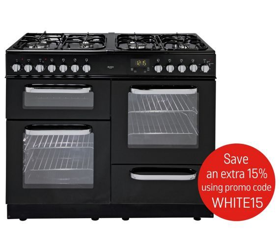 Buy Bush BCL100DFB Dual Fuel Range Cooker- Black at Argos.co.uk - Your Online Shop for Freestanding cookers, Cooking, Large kitchen appliances, Home and garden.