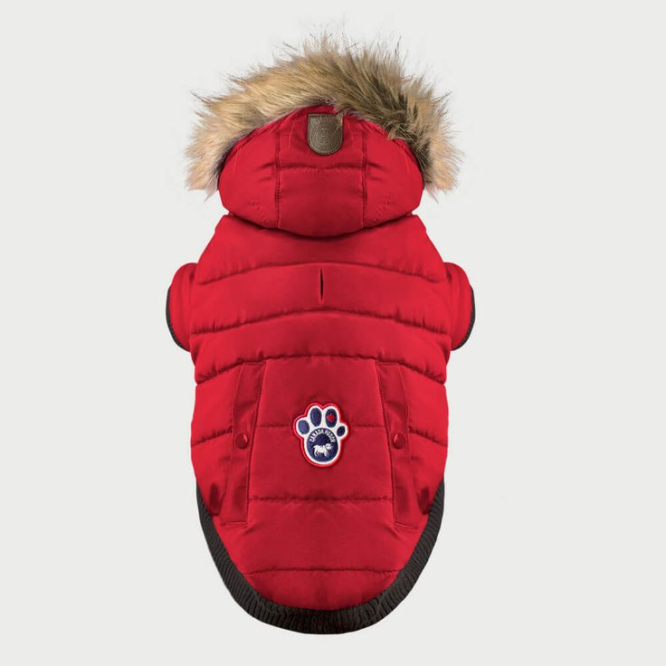 Canada Pooch North Pole Parka | Protect your pooch on the coldest of days with this puffy water-resistant parka