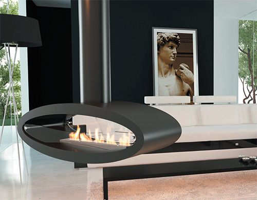 Make a modern statement from ceiling or floor with this fabulous ethanol biofuel fireplace by Decoflame. Dubbed the Ellipse, this contemporary fireplace features an egg-shaped firebox that is either...
