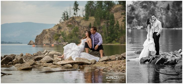 Okanagan Trash the Dress Vernon BC Rock the Frock session at Ellison Park.  These two were totally awesome, and up for anything! #trashthedress #rockthefrock  www.aspectartsphoto.com
