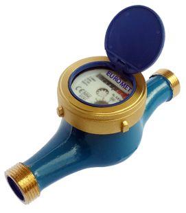 Mekanik ön ödemeli ev tipi soğuk su sayacı.