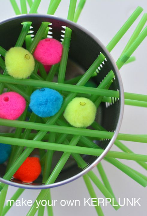 Make your own kerplunk game for kids -- KERPLUNK was my FAV growing up!!