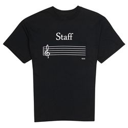 Music Staff T-Shirt at The Music Stand