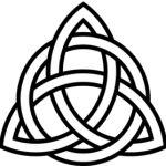 Black Trinity Knot Tattoo Design