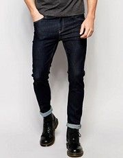 Vaqueros pitillo ajustados en azul Real de Cheap Monday