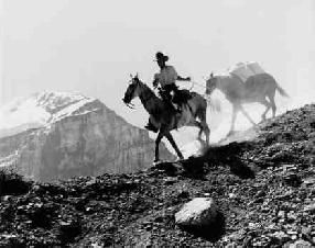 Bruno Engler Black And White Photographs  Rider And Pack Horse (Photograph) (BRUORGSH048)