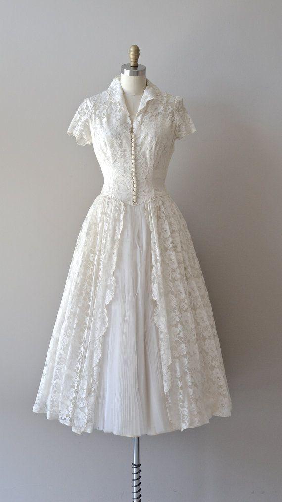R E S E R V E D Lace 50s Wedding Dress 1950s Wedding