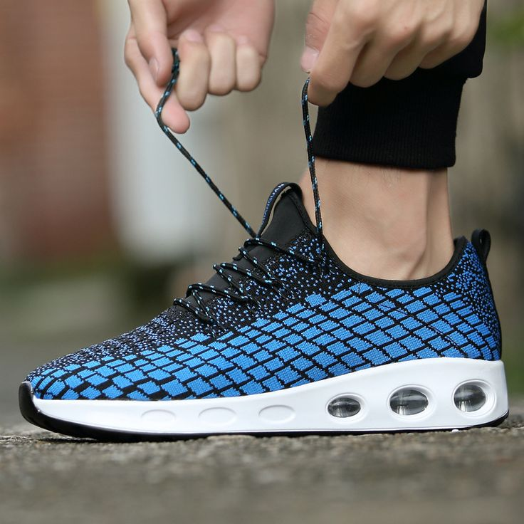 Men Sneakers 2018 AIR Cushion Running Shoes Outdoor Shock Absorber Light Walking Shoes Camping Trail Flyknit Lattice Sport Shoes. Yesterday's price: US $33.66 (27.52 EUR). Today's price: US $26.25 (21.45 EUR). Discount: 22%.
