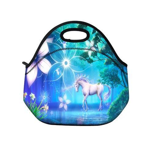 Tropic Unicorn Insulated Neoprene Lunch Bag