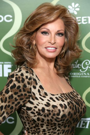 The ageless Raquel Welch, 73, at a pre-Emmy party.