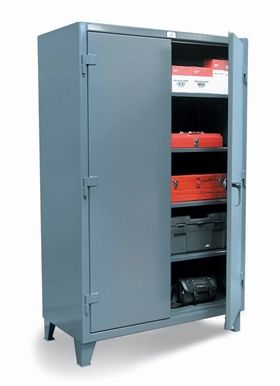 Strong Hold's 1,200 lbs Capacity Floor Model Storage Cabinets handles your most demanding industrial storage requirements. For a large selection of Strong Hold industrial cabinets at an affordable price, shop essexdrumhandling.com.