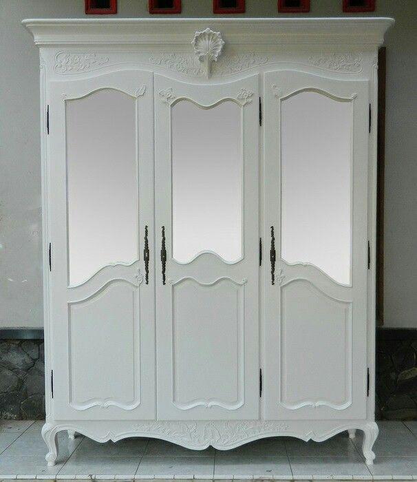 White wardrobe modern  [More info] Furnitur.id/index.php