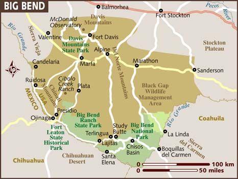 Best BIG BEND NATIONAL PARK TEXAS Images On Pinterest - Southwestern us national parks map