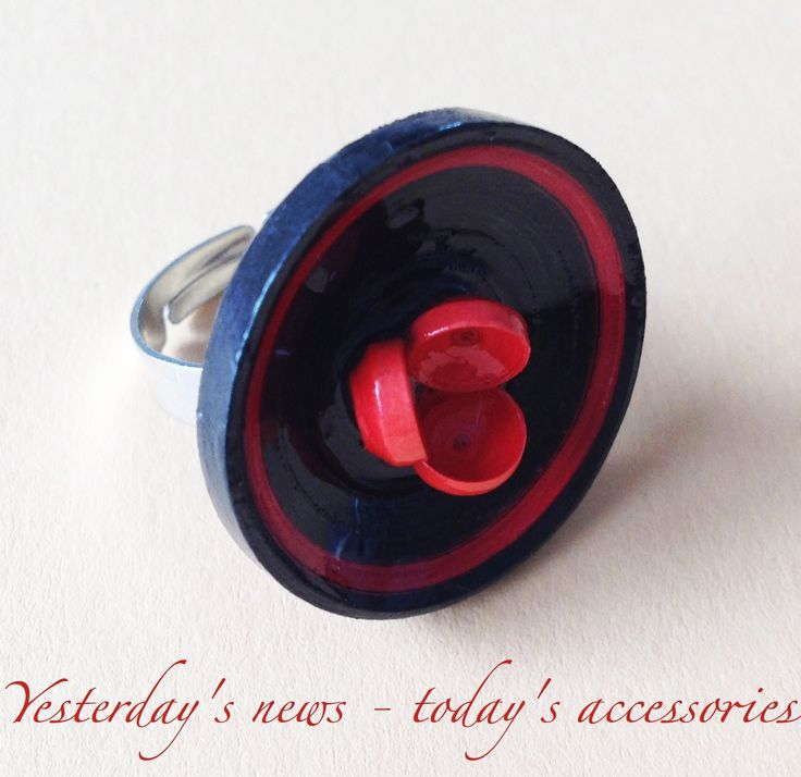 Paper ring by Yesterday's news - today's accessories